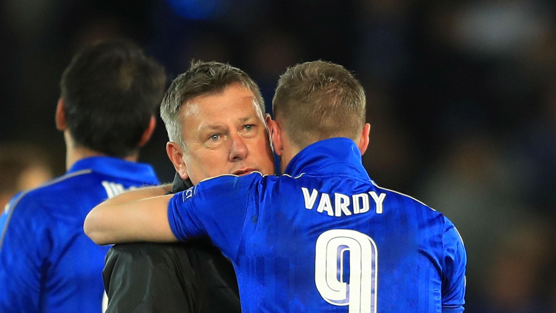Craig Shakespeare Jamie Vardy Leicester City 18042017