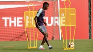 Ousmane Dembele Barcelona training