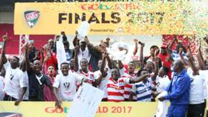 AFC Leopards with GOtv Shield trophy.