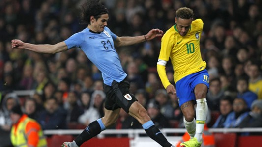 Cavani Neymar Brazil Uruguay Friendlies 16112018