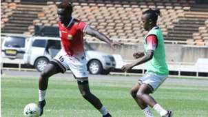 David Ochieng and Francis Kahata of Kenya and Harambee Stars.