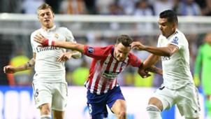 Saul Niguez Casemiro Toni Kroos Real Madrid Atletico Madrid UEFA Super Cup 2018