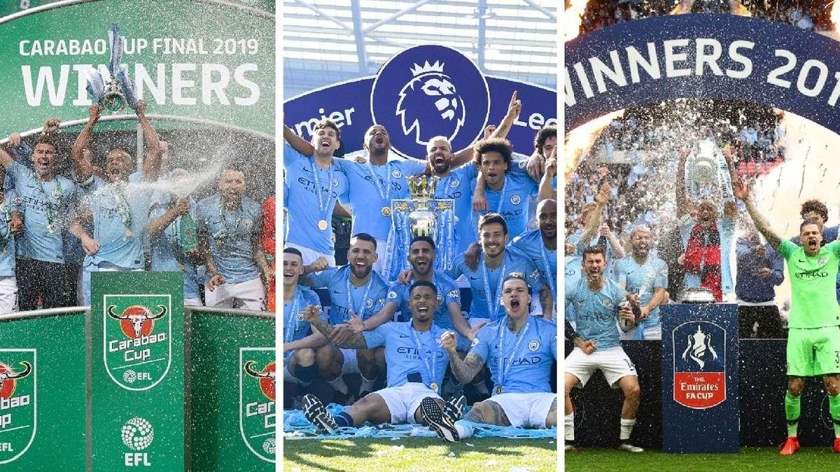 GFX Manchester City Domestic Treble