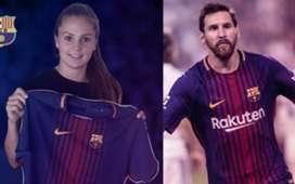 Lieke Martens Lionel Messi Barcelona