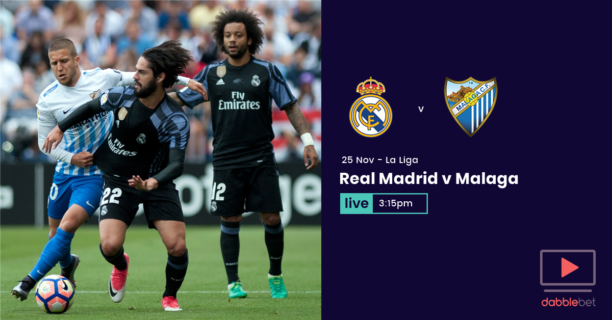 Real Madrid Malaga graphic
