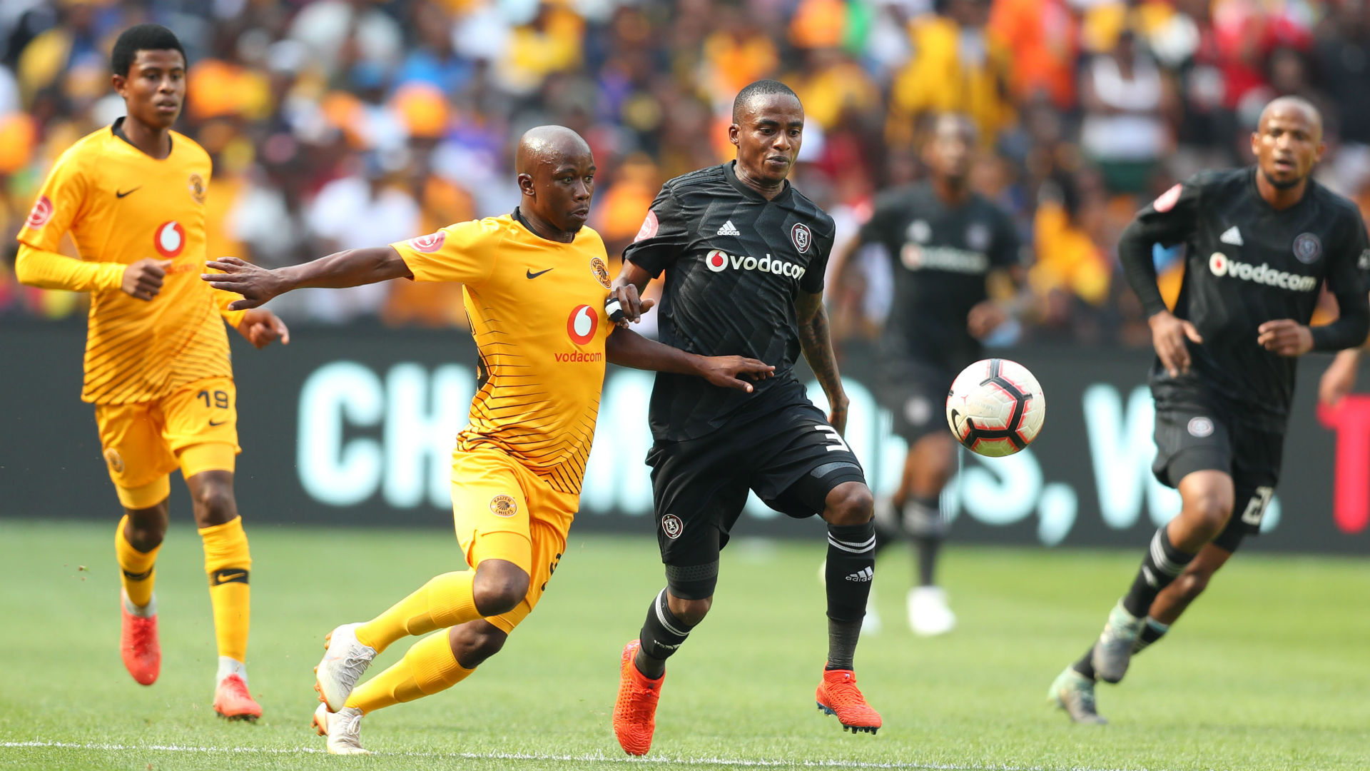 Kaizer Chiefs v Orlando Pirates, Thembinkosi Lorch and Siphosakhe, Ntiya-Ntiya, February 2019