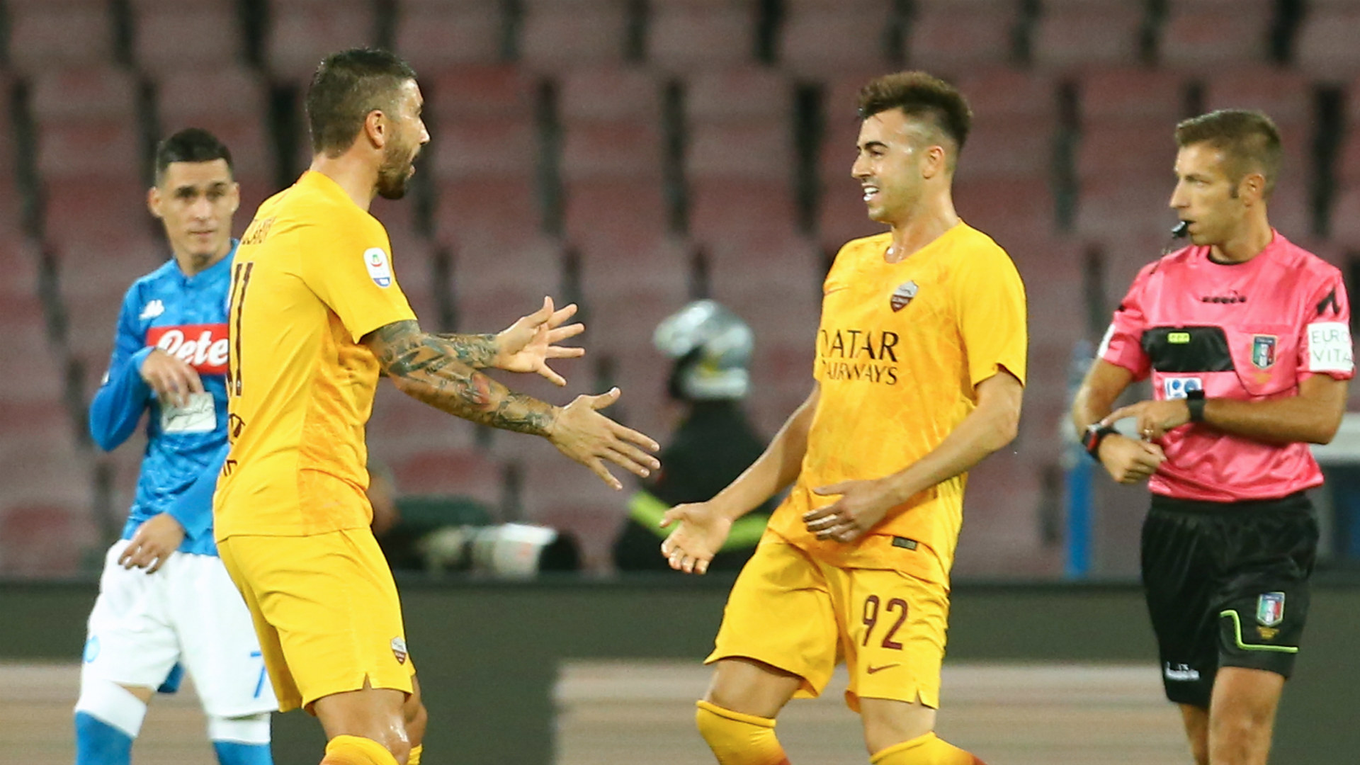 Stephan El Shaarawy AS Roma Napoli 28102018