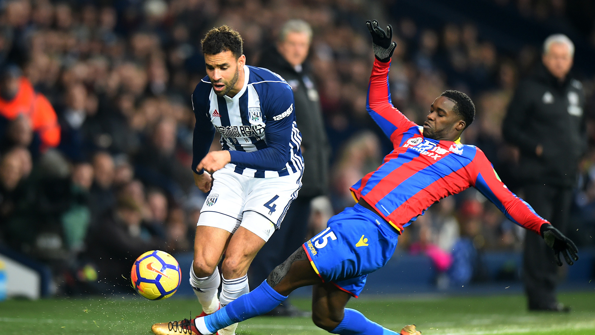 Hal Robson-Kanu Jeffrey Schlupp West Brom Crystal Palace Premier League