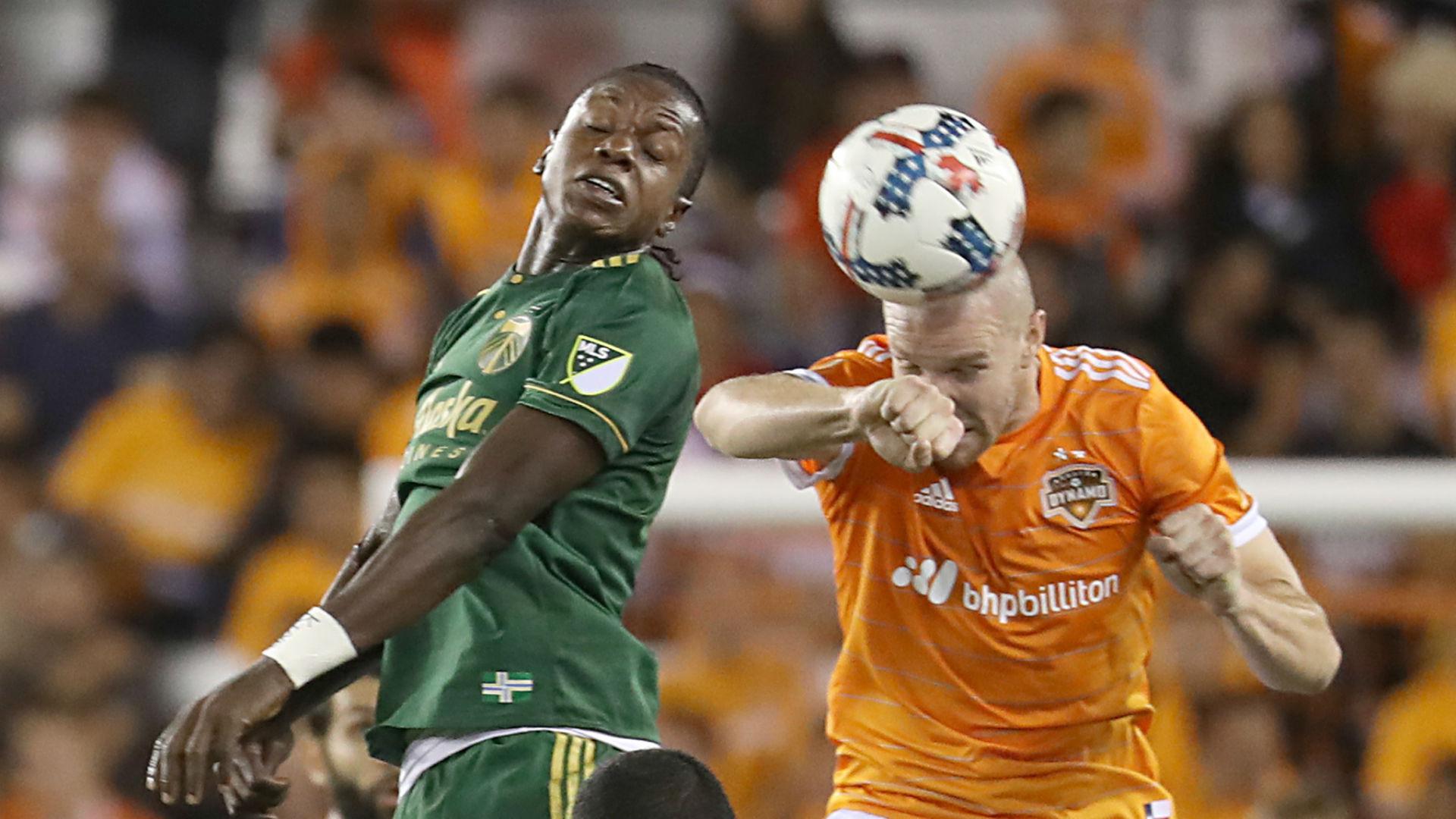 Darren Mattocks Philippe Senderos Portland Timbers Houston Dynamo MLS