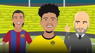 Jadon Sancho Borussia Dortmund cartoon NxGn 2019