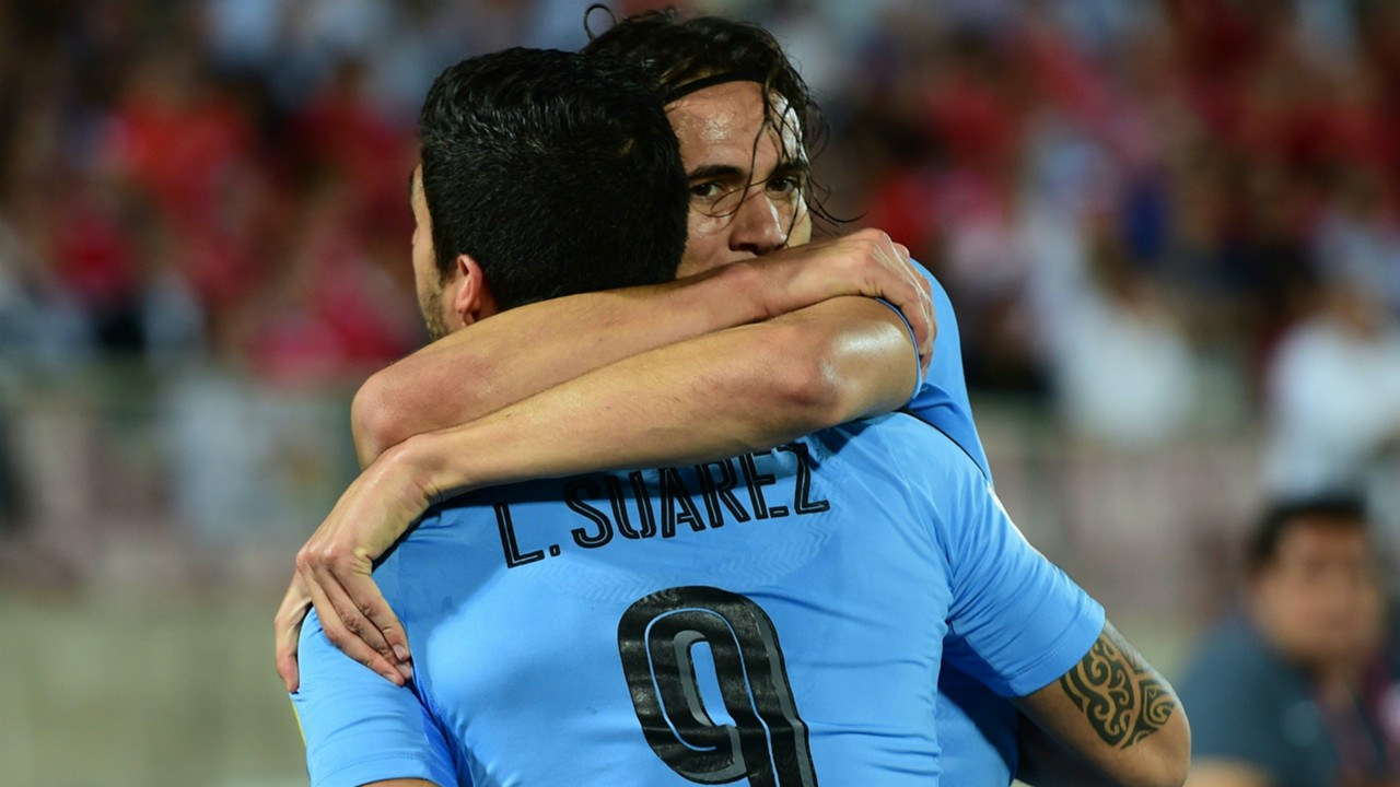 Image result for edinson cavani luis suarez