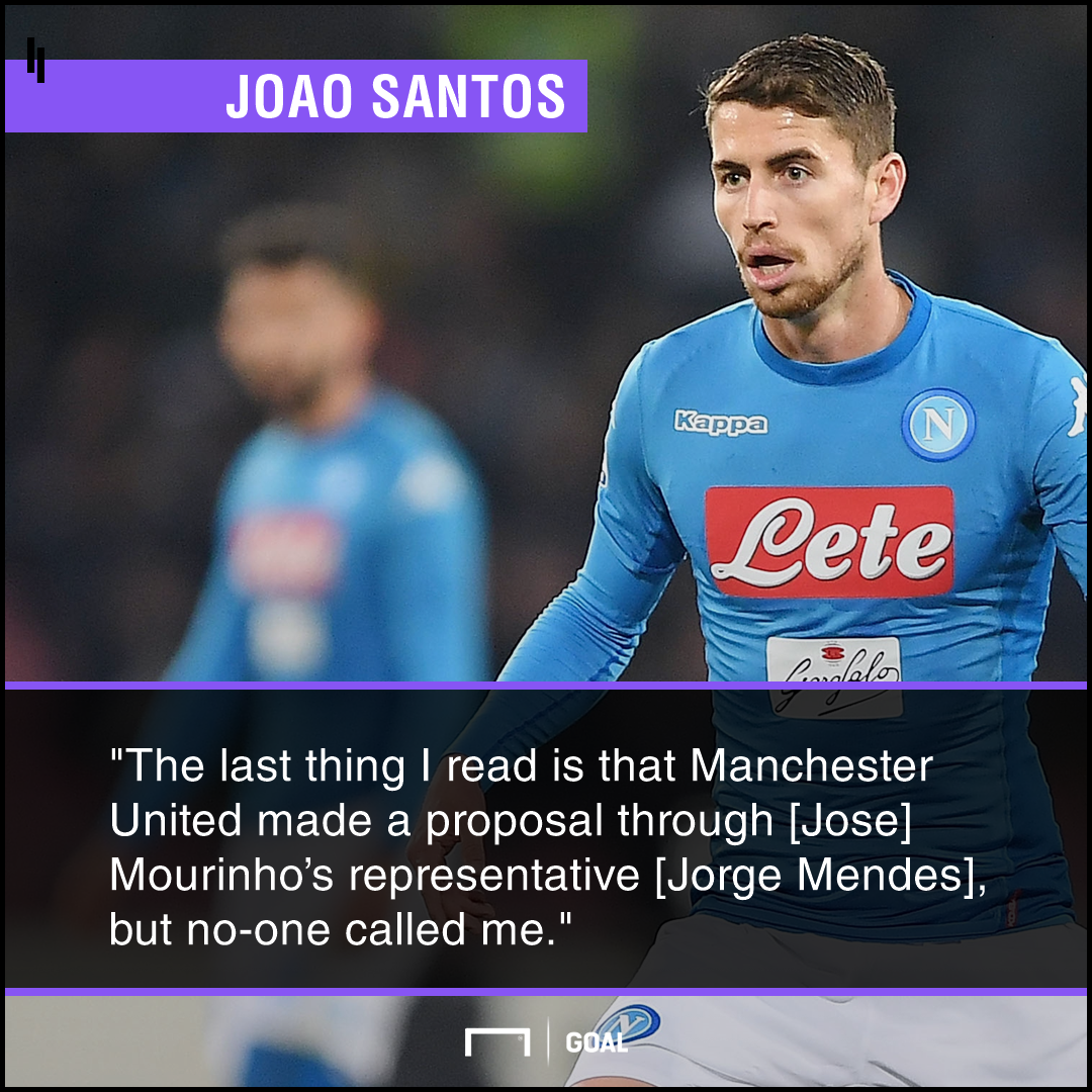 Jorginho agent no Manchester United contact