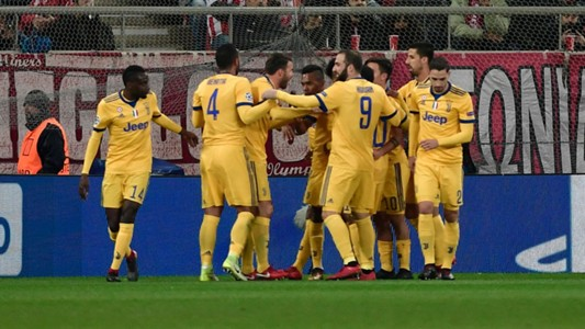 Juan Cuadrado goal Olympiacos Juventus
