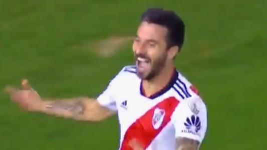 Captura Ignacio Scocco River Independiente Copa Libertadores 02102018
