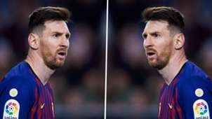 Lionel Messi mirror split