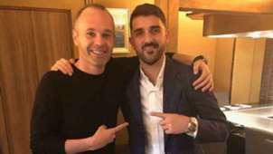 Andrés Iniesta y David Villa