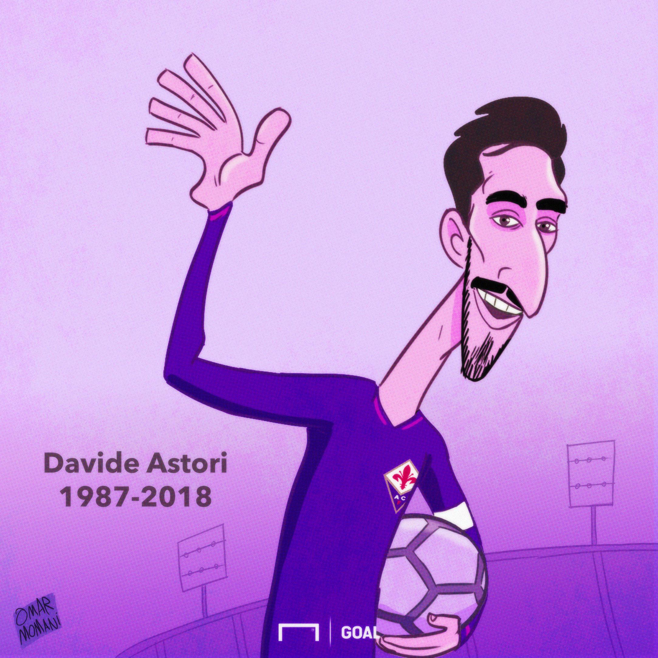Davide Astori Tribute Cartoon