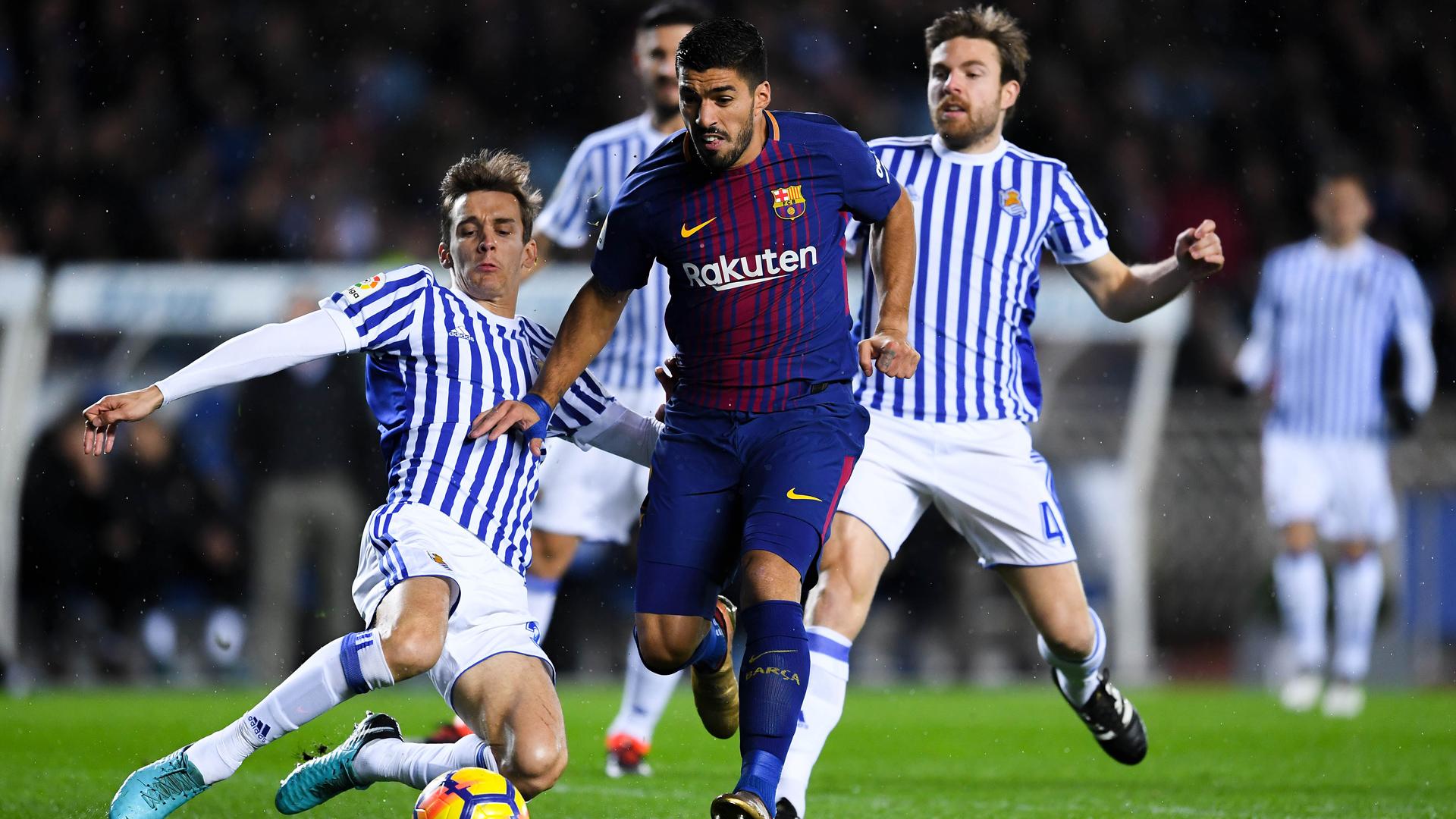 Real Sociedad Barcelona Luis Suarez Diego Llorente 14012018