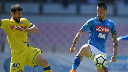 Hamsik Tomovic Napoli Chievo Serie A