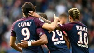 Neymar Cavani Mbappé trio PSG Ligue 1