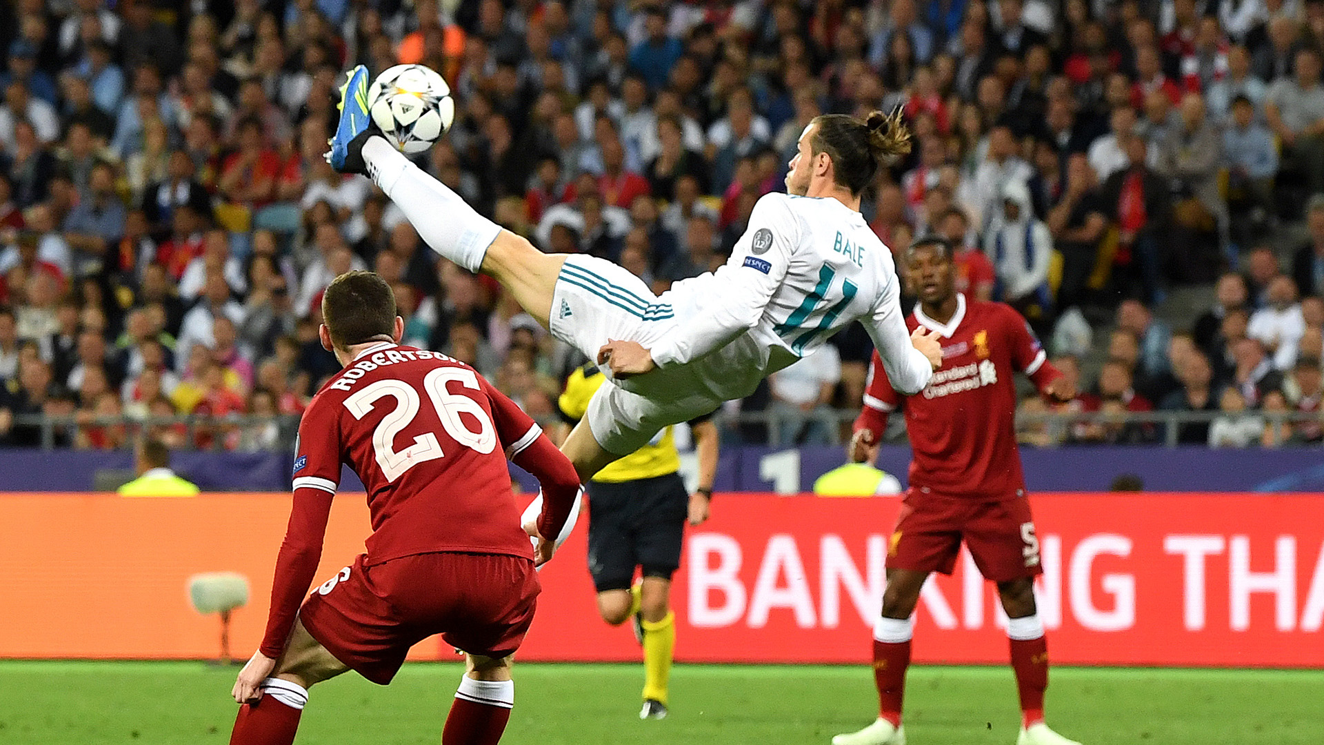 Gareth Bale Real Madrid bicycle kick goal Champions League final 2018