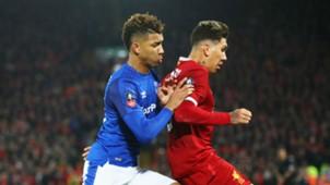 Mason Holgate Roberto Firmino Everton Liverpool 05012017