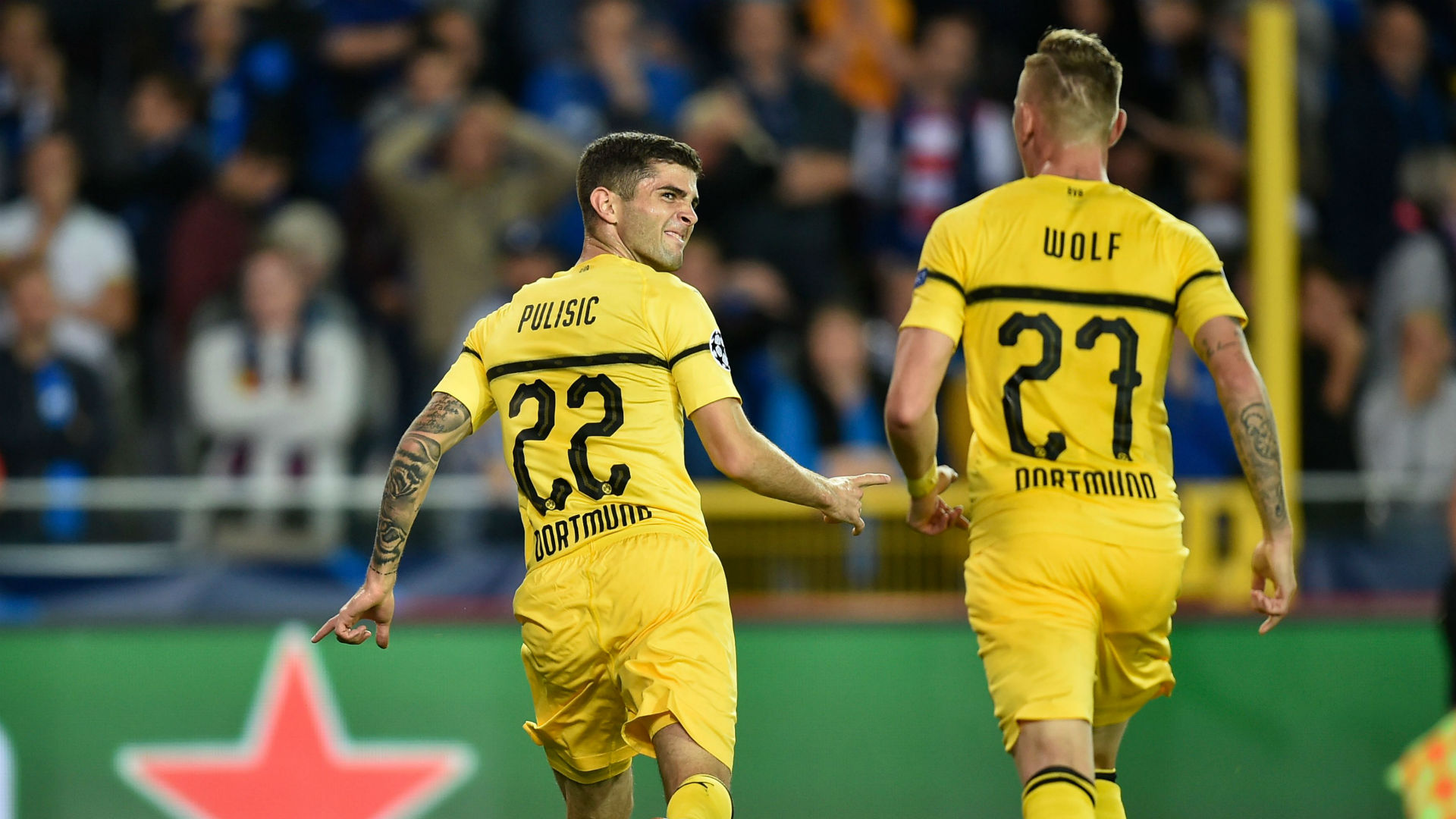 Christian Pulisic Borussia Dortmund Club Brugge Champions League 2018