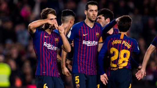 Denis Suarez Sergio Busquets Barcelona Cultural Leonesa Copa del Rey 05122018