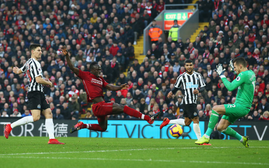 Sadio Mane Liverpool vs Newcastle Premier League 261218