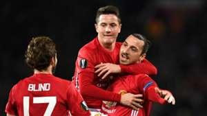 Ander Herrera Zlatan Ibrahimovic Manchester United