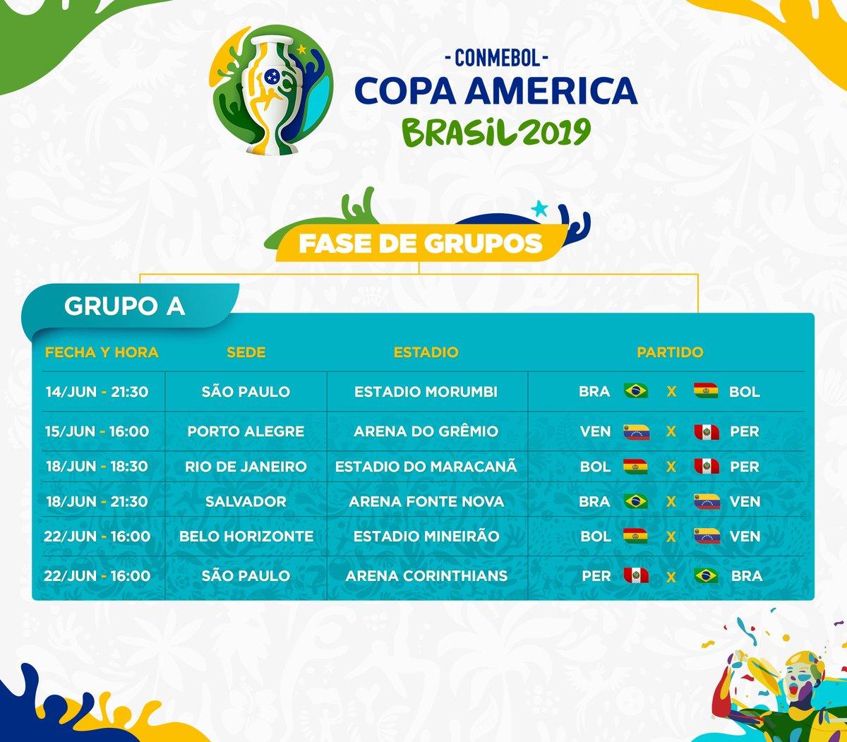 Calendario Copa.Calendario De La Copa America 2019 Goal Com