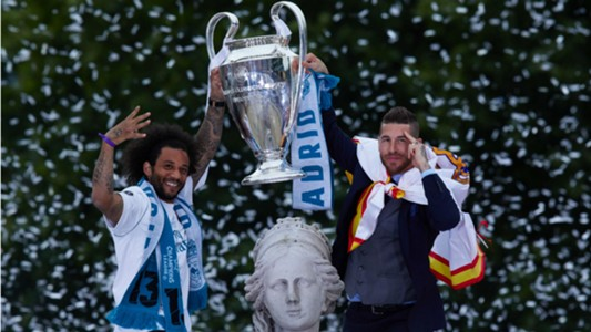 Marcelo Sergio Ramos Real Madrid celebration