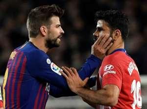 Diego Costa + Gerard Pique Barcelona vs Atletico Madrid La Liga
