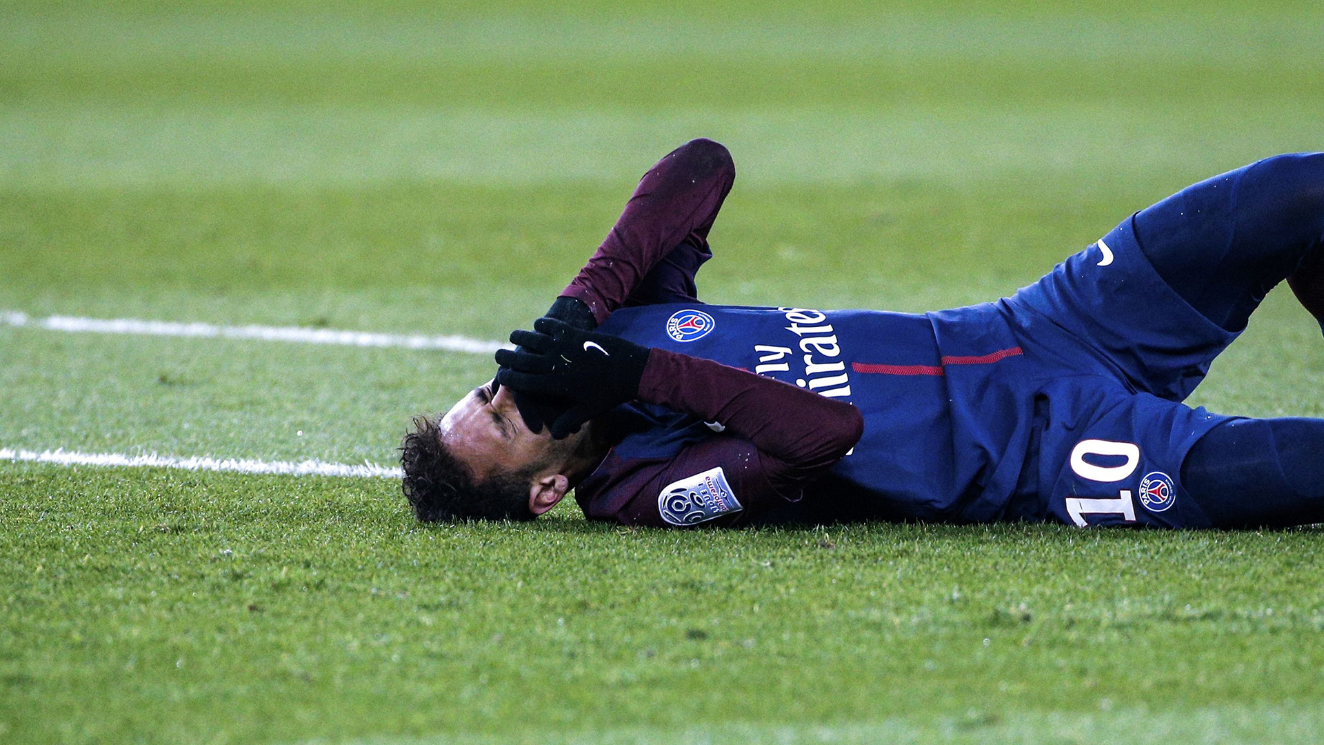 Neymar injured PSG Marseille 02252018 Ligue 1