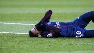 Neymar injured PSG Marseille 02252018 Ligue 1