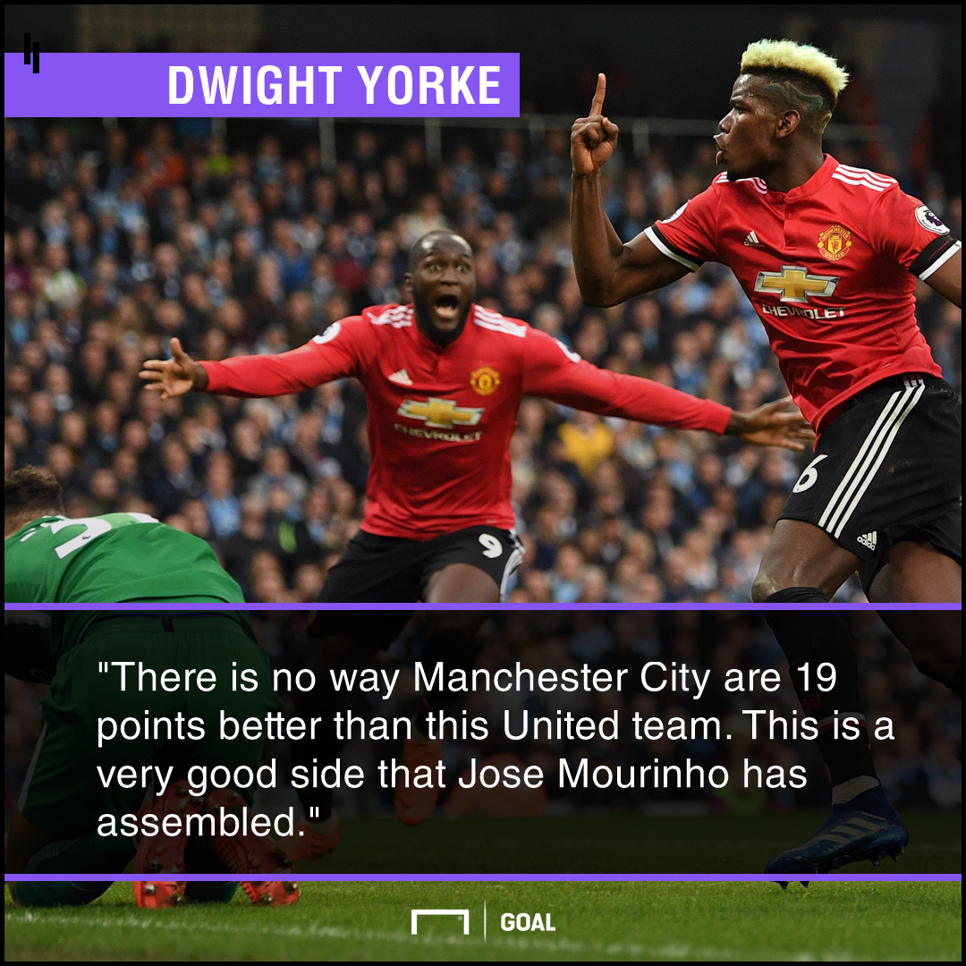 'There's no way Man City are 19 points better!' - Yorke defends Mourinho's Man Utd
