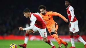 221217 Arsenal Liverpool Alexis Sánchez Mohamed Salah Maitland Niles