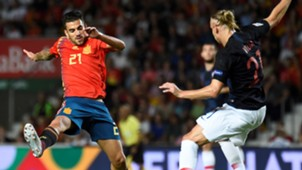 Dani Ceballos Domagoj Vida España Croacia Spain Croatia UEFA Nations League 11092018