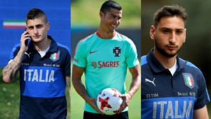 Donnarumma Verratti Cristiano Ronaldo