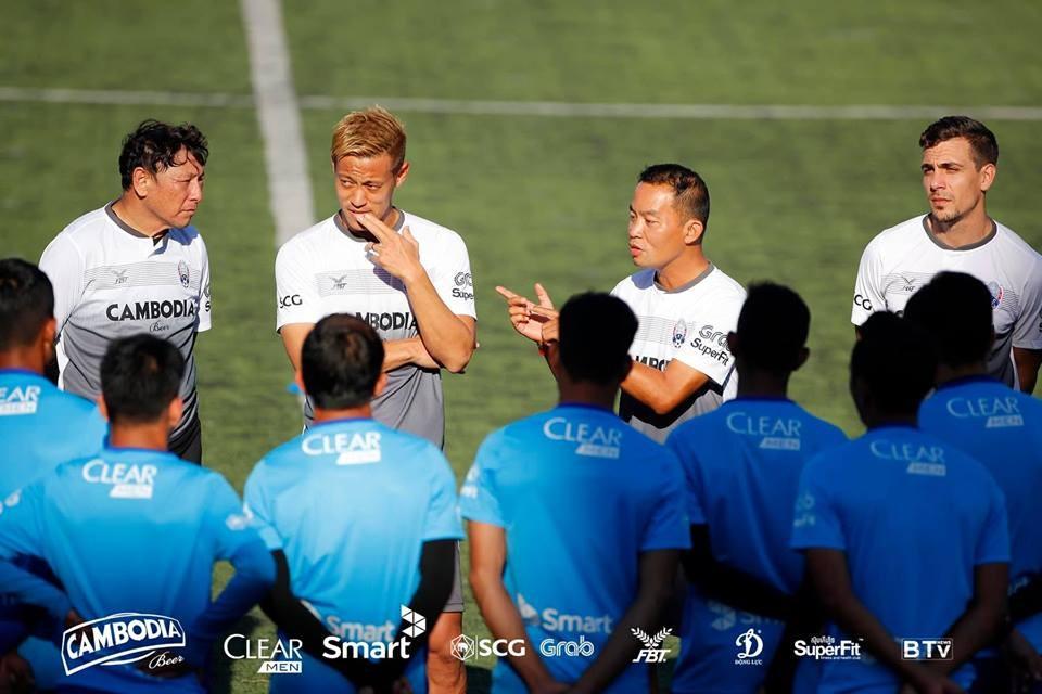ผลการค้นหารูปภาพสำหรับ โค้ชกัมพูชาหวังฮอนดะมาคุมทีมเกมต่อไป