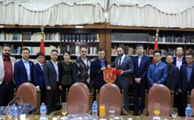 وفد الحكومة الصينية بالأهلي المصري