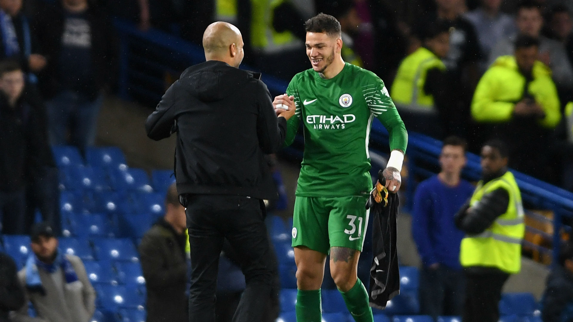 Pep Guardiola Ederson Manchester City