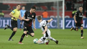 100318 Lucas Alario Ginter Bayer Leverkusen Borussia Mönchengladbach Charles aránguiz