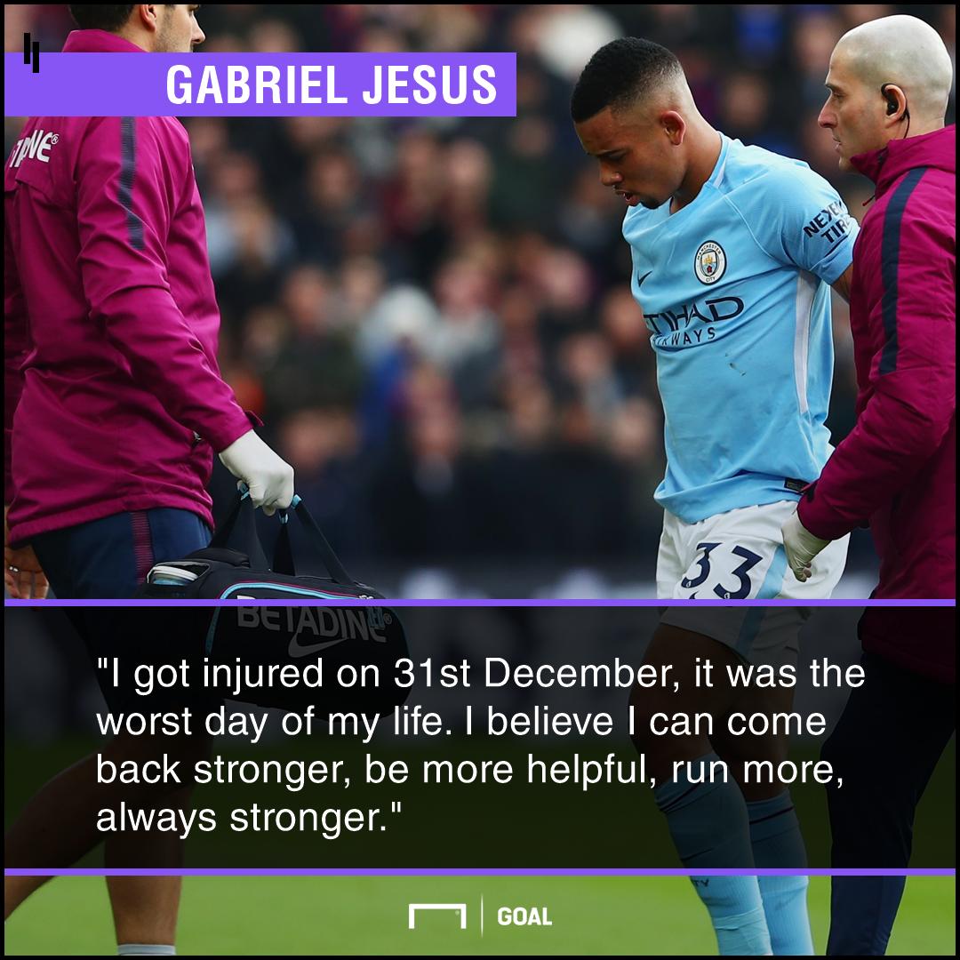 Gabriel Jesus injury come back stronger