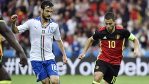 Parolo Hazard Belgium Italy Euro 2016