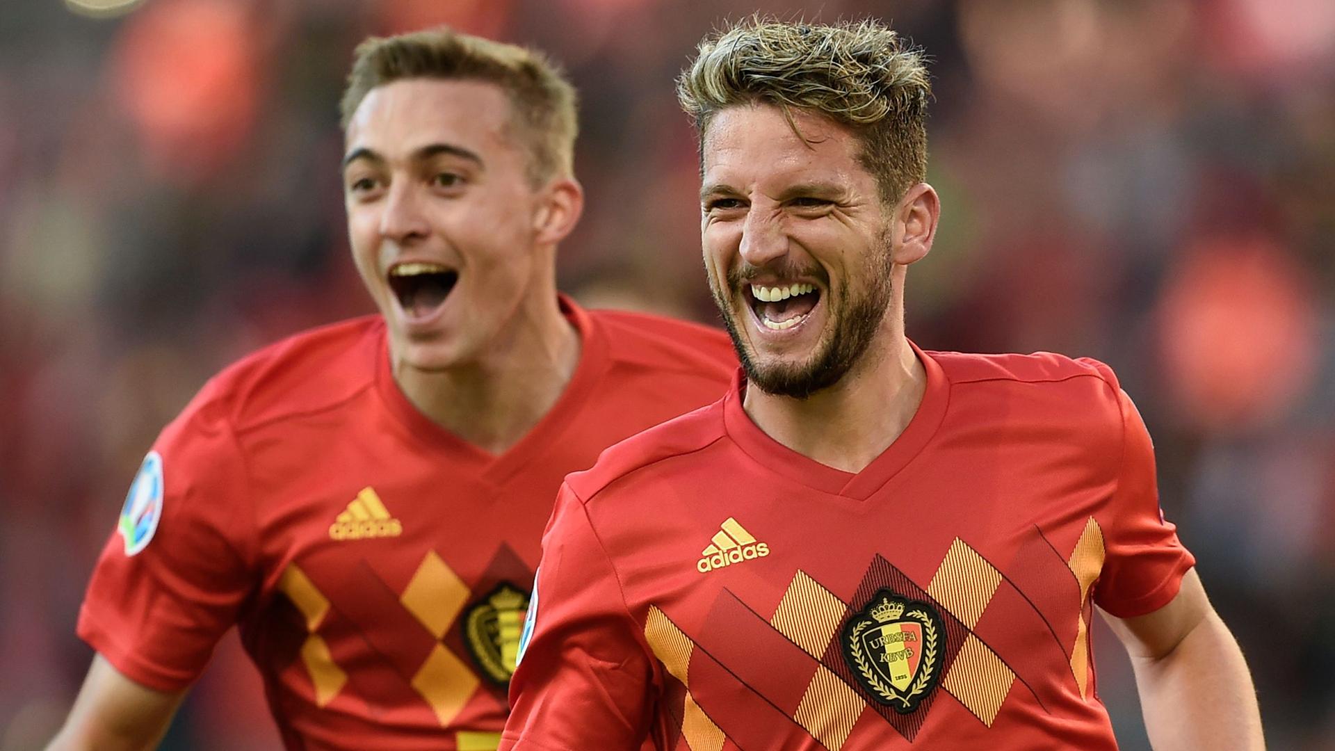 Timothy Castagne Dries Mertens Belgium 2019