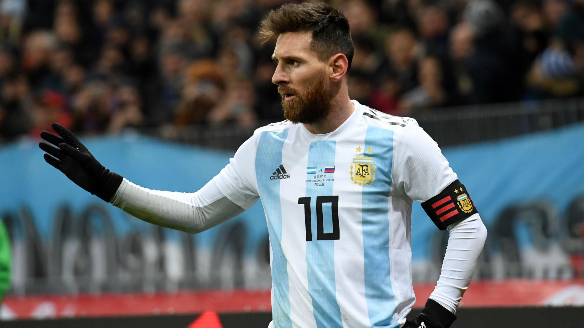 Lionel Messi. Rusia Argentina 11112017
