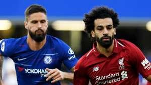 Olivier Giroud Mohamed Salah Chelsea Liverpool 2018-19