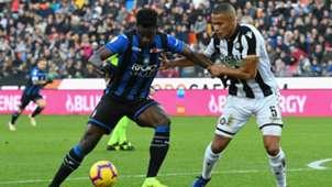 Duvan Zapata Troost Ekong Udinese Atalanta Serie A
