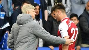 Arsene Wenger Konstantinos Mavropanos Arsenal 2017-18